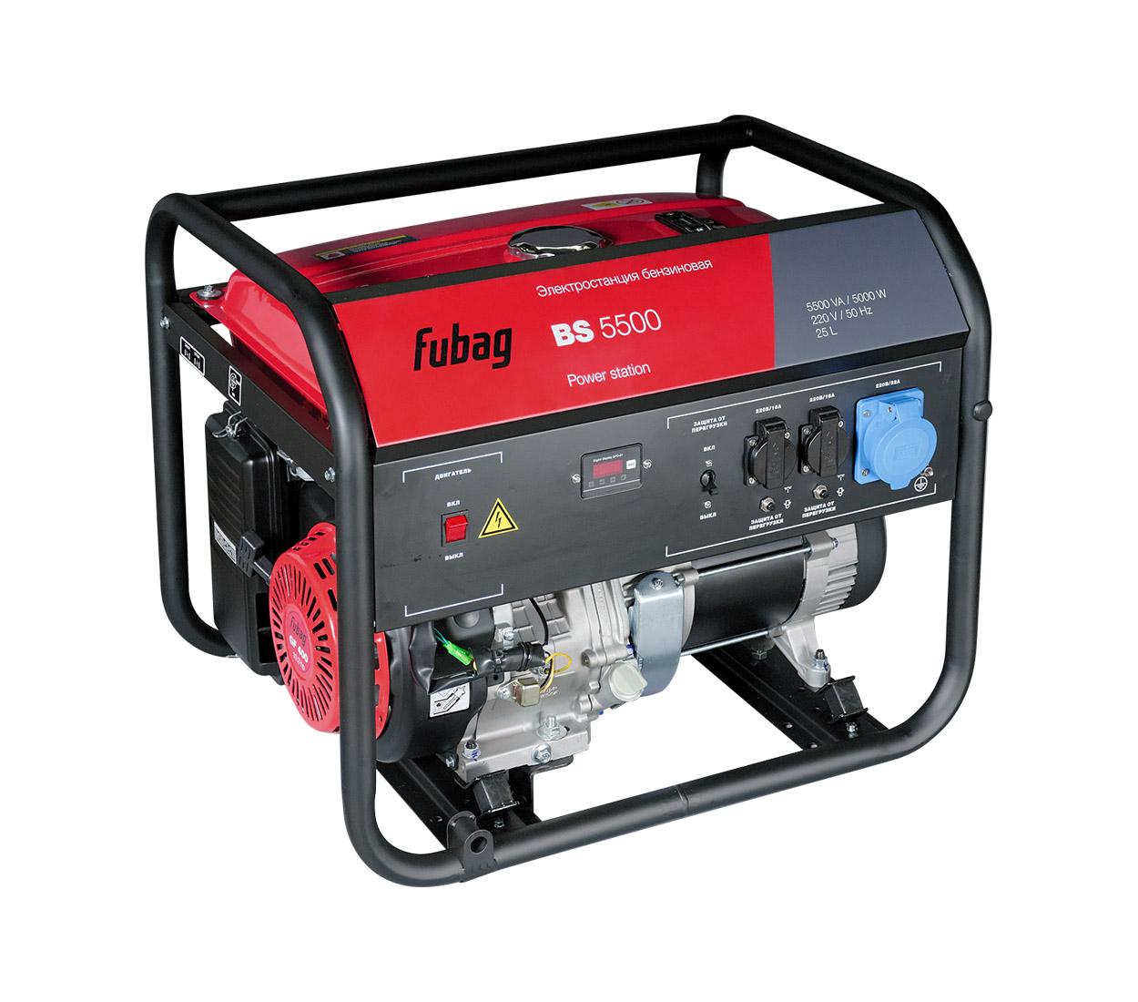 Бензиновый генератор (Бензогенератор) FUBAG BS 5500